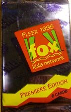 Fleer 1995 Fox Kids Network Trading Cards Premiere Edition New Rare