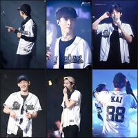 Kpop EXO Chanyeol T-shirt EXO'rDIUM In Seoul Tshirt Baseball Jersey Short Sleeve