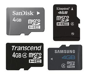 Genuine SanDisk Kingston Samsung Sony Transcend 4GB Micro SD TF Memory Card