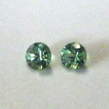 Natural round shaped tsavorite gems x 2...Excellent accent stones