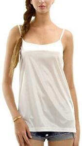 Women's Basic Satin Camisole Full Slip Top