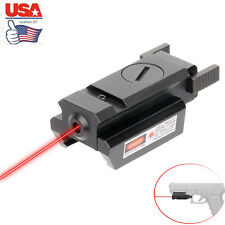 Us Compact Red Dot Laser Sight Low Profile Picatinny Rail 20mm For Rifle Pistol