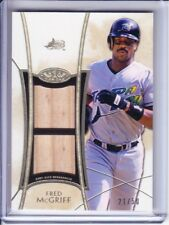 2014 Topps Tier One Dual Bat Relic Game Used FRED McGRIFF 21/50 Tampa Bay Rays