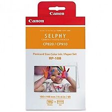 Canon RP-108IN Tinta/Papel Para Selphy Impresora CP1000 4 X 6 X 108 Tamaño Postal