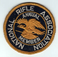 VINTAGE NRA Patch ANNUAL MEMBER National Rifle Association HUNTING Guns RIFLES