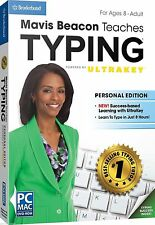 MAVIS BEACON TEACHES TYPING POWERED BY ULTRAKEY PERSONAL EDITION PC MAC NEW BOX