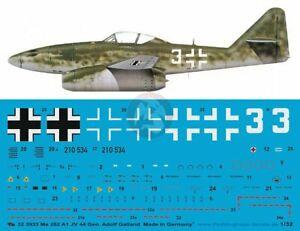 Peddinghaus 1/32 Me 262 A-1a Schwalbe White 3 Markings Adolf Galland JV 44 3933