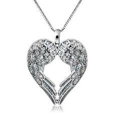mother  Angel Wing LOVE Heart Silver Pendant Necklace mum mothers day