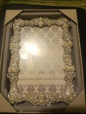 Beautiful, Luxe Collection Silver 4x6 Photo Picture Frame Bling Wedding Holiday