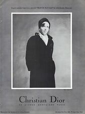 PUBLICITE ADVERTISING 034 1965 CHRISTIAN DIOR  manteaux fourrures