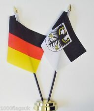 Germany Federal & Germany East Prussia Region Double Friendship Table Flag Set