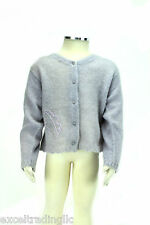 JACADI Girl's Ecouter Lavender Long Sleeve Cardigan Size 4 Years NWT $86