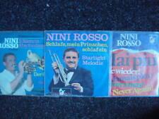 """3 x 7"""" NINI ROSSO IL SILENZIO MAI PIU SCHLAFE MEIN..P90"""