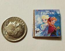 Miniature Book Disney Movie Barbie 1/12 Scale   Frozen Elsa Anna Olaf  Christmas