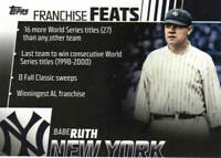 BABE RUTH 2019 Topps SERIES 2 FRANCHISE FEATS [BLACK] Card # FF-19 RARE only/299