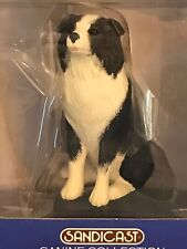 Hand Painted New Border Collie Dog Figure Sandicast Canine Collection