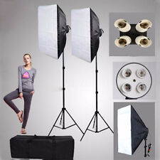 Photo Studio Video Photography Lighting Softbox 50*70cm+4 in1 E27 Socket Lamp