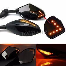 LED INTERGRATED SPORT BIKE LED TURN SIGNAL MIRRORS FOR Kawasaki Yamaha Honda BMW