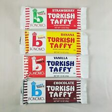 Bonomo Turkish Taffy Sampler - Strawberry, Chocolate, Vanilla, and Banana