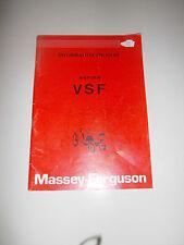 REVUE MASSEY FERGUSON INFORMATION PRODUIT SERIES VSF