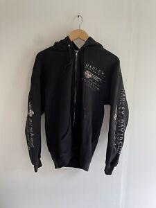 harley davidson zip up hoodie vintage 50/50 dealer mens M/L