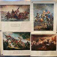 New York Graphic Society Poster LOT! Washington Bunker Hill Spirit '76 Dec Indep
