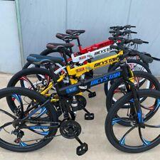 """Unisex Mens Womens Full Suspension  Mountain Folding Hybrid Bike 26"""""""