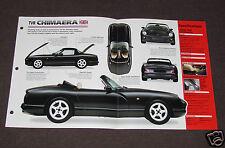 1993-1998 TVR CHIMAERA Car SPEC SHEET BROCHURE PHOTO BOOKLET
