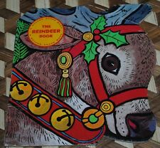 The Reindeer Book Golden Shape Book Vintage 1965 Retro Santa Claus Christmas HTF