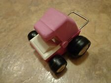 "OLD 3.5"" BUDDY L--PINK BABY CARRIAGE DUNE BUGGY CAR (LOOK)"
