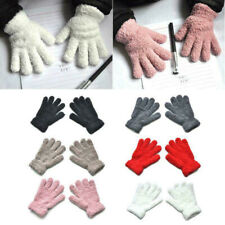 Girls Boys Kids Plush Winter Warm Gloves Children Outdoor Full Fingers Mittens