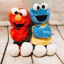 """Sesame Street Plush Elmo & Cookie Monster Hugs Forever Friends Lot 9""""  2012 Toys"""