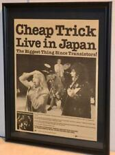 Cheap Trick 1979 Live In Japan At Budokan Lp Promotional Framed Poster / Ad