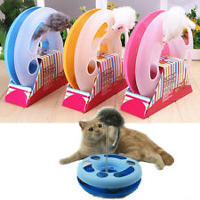 Pet Cat Funny Moving Mouse Spring Mice Chase Play Ball Turntable Circle Toy