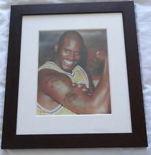**GENUINE HANDSIGNED SHAQUILLE O'NEAL (BASKETBALLER) FRAMED WITH COA**