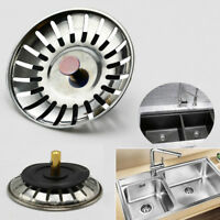 New Stainless Steel Kitchen Sink Strainer Waste Plug Drain Stopper Filter Basket