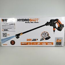 New WORX WG625 20V Cordless Hydroshot Portable Pressure Power Cleaner 320psi