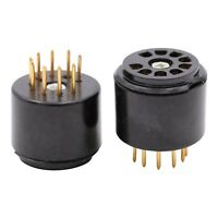 GD-PARTS 2PCS 9pin BAKELITE Tube Socket Testing Saver for 12AU7 12AT7 EL84 ECC83