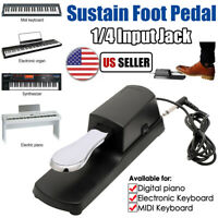 Piano Sustain Pedal Universal for Electronic Keyboards Roland Yamaha Casio Moog