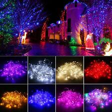 10 м - 100 м водонепроницаемая рождественская елка светодиодная гирлянда Огни вечеринки сад декор лампа т