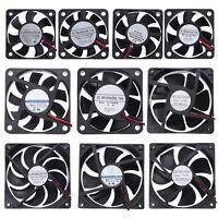 DC 5V/12V/24V 7/9Blades Cooler Fan Computer PC Cooling Fan Radiator Cooler lot
