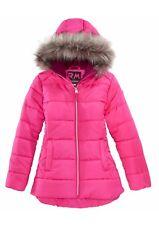 f57c8f843 NW RM 1958 Big Girls Ashlyn Hooded Puffer Jacket With Faux-fur Trim 10 12