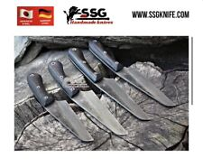 """Custom Forged High Carbon Steel Full Tang hunting, and survival Set 9 """""""