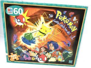 Vintage Pokemon Gotta Catch 'em All 60 Piece Puzzle | MB | 1999 | Complete