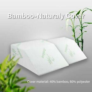 Leg Elevation Pillow Rest BAMBOO Memory Foam Bed Wedge Sleeping Comfort AU
