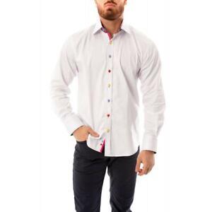Claudio Lugli Mens Kaleidoscope Trim Shirt (White)