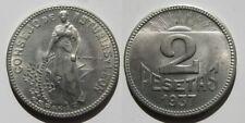 CONSEJO DE ASTURIAS Y LEON . 2 PESETAS DE 1937