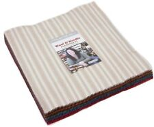 "Wool & Needle VI Flannels Moda Layer Cake 42 100% Cotton 10"" Precut Squares"