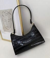 croc snake print bag shoulder bag y2k basic trendy 2020