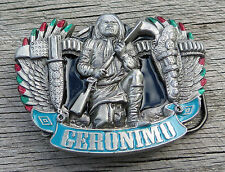 Geronimo Native American Indian Warrior Vintage Belt Buckle